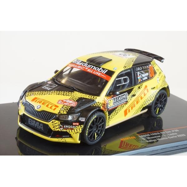 イクソ 1/43 シュコダ ファビア R5 No.30 2020 WRC ラリー・モンテカルロ G.Munster/L.Louka 完成品ミニカー RAM749
