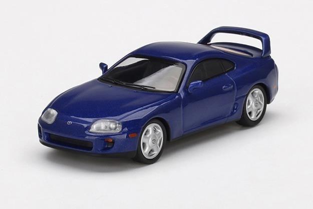 【4月予約】MINI GT 1/64 トヨタ スープラ ブルーパールメタリック 右ハンドル 完成品ミニカー MGT00211-R
