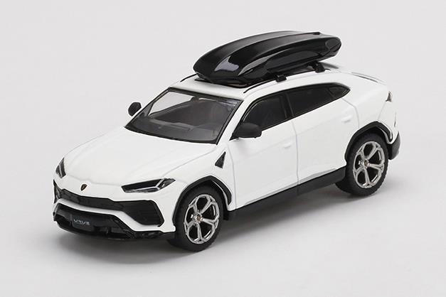 【5月予約】MINI GT 1/64 ランボルギーニ ウルス ビアンコモノセロス マットホワイト ルーフボックス付属 左ハンドル 完成品ミニカー MGT00220-L