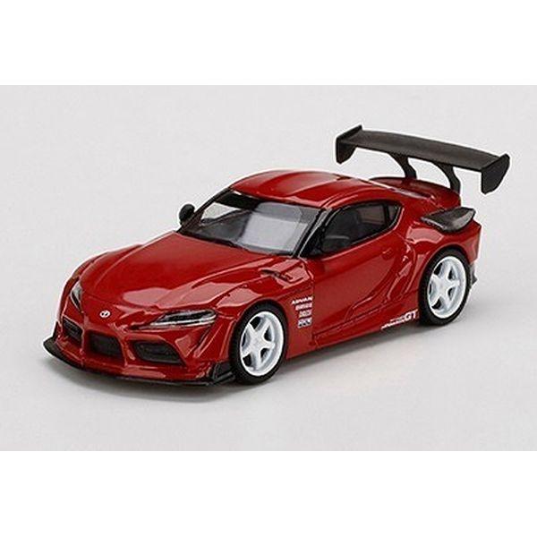 【10月予約】MINI GT 1/64 トヨタ HKS GR スープラ ルネサンスレッド 右ハンドル 完成品ミニカー MGT00265-R