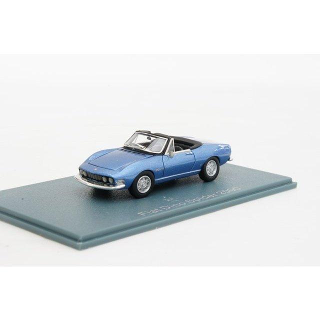 ミニカー 1/87 ネオ NEO フィアット ディーノ スパイダー 2000 ピニンファリナ 1966年 ブルー(NEO87481) 【フィアット】