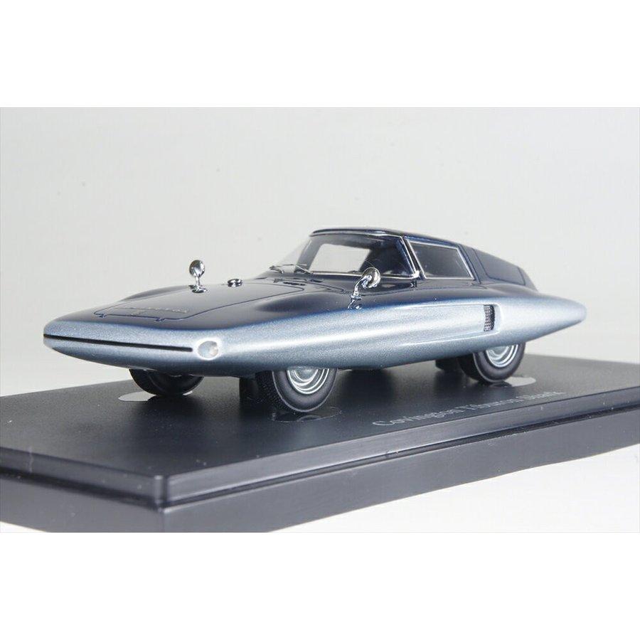 オートカルト 1/43 コビントン ティブロン シャーク 1961 アメリカ シルバー/ブルー 完成品ミニカー 04016