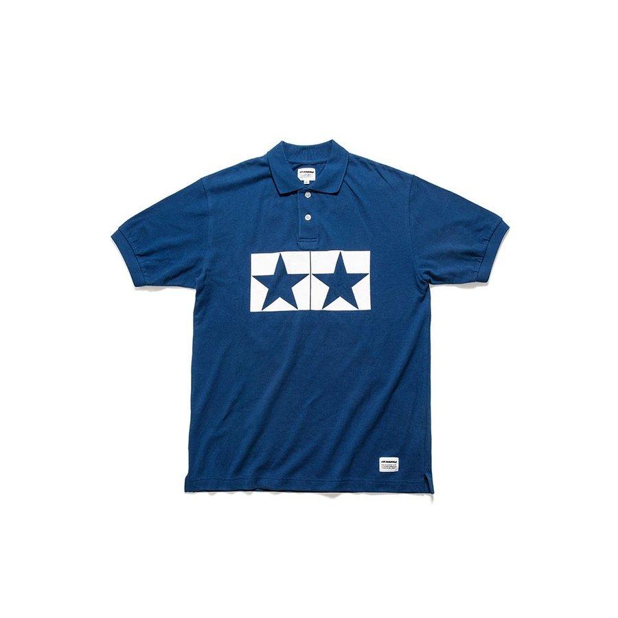 タミヤ JUN WATANABE タミヤポロシャツ (ブルー/XL) フィギュア 67462