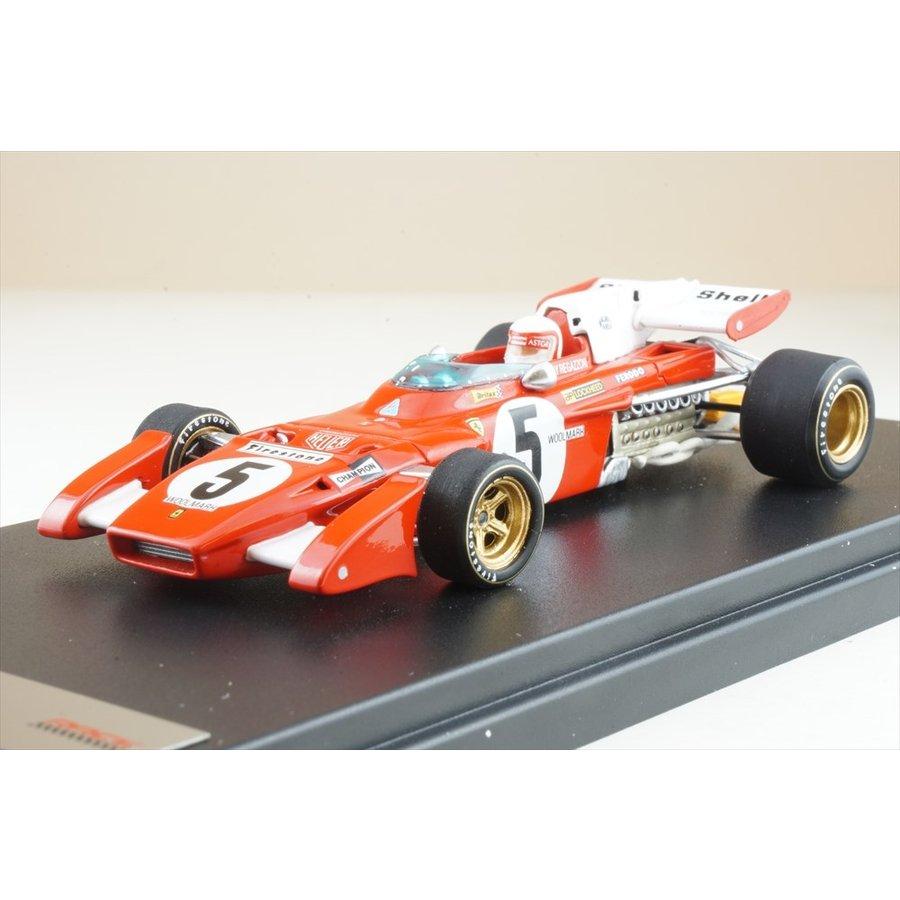 ルックスマート 1/43 フェラーリ312 B2 No.5 1971 F1 イギリスGP C.レガツォーニ 完成品ミニカー LSRC027