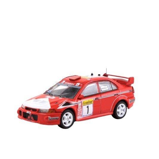 ターマックワークス 1/64 ミツビシ ランサー エボリューション VI 2000 WRC ラリー・モンテカルロ ウイナー T.マキネン 完成品ミニカー T64-021-MAR