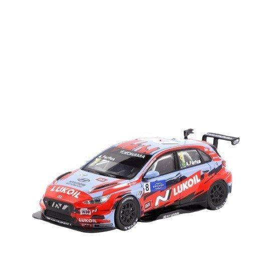 ターマックワークス 1/64 ヒュンダイ i30 N TCR No.8 BRCヒュンダイNルクオイル 2019 FIA WTCR A.ファーフス 完成品ミニカー T64-031-19WTCR08