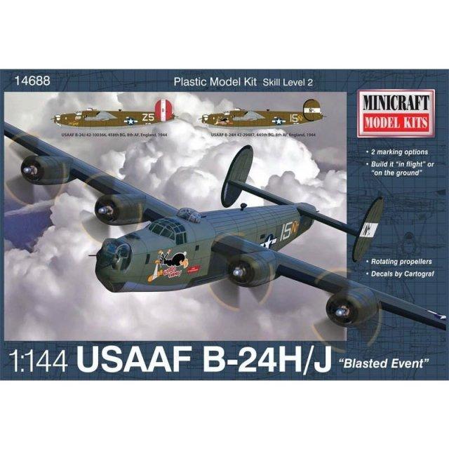 ミニクラフト 1/144 WW.II B-24時間/J アメリカ陸軍航空隊/カナダ空軍 スケールモデル MC14688