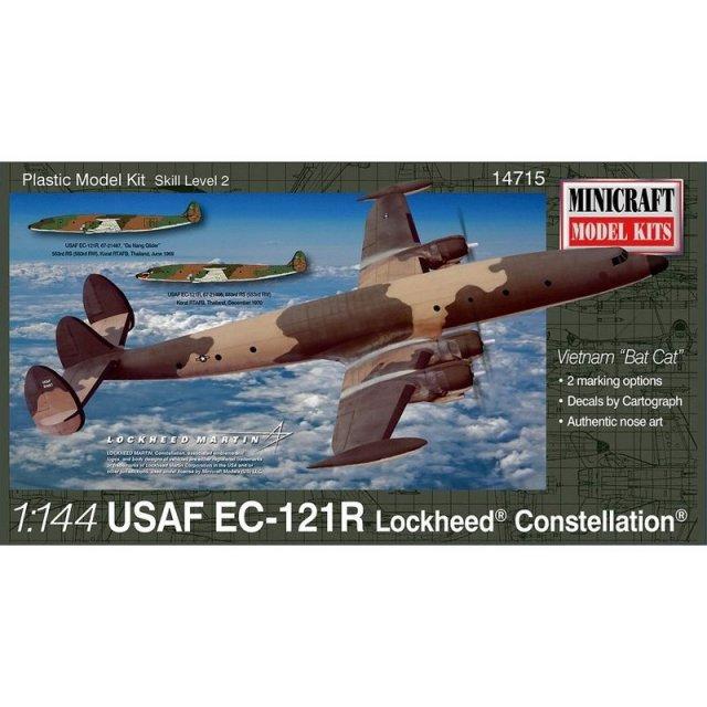 ミニクラフト 1/144 アメリカ空軍EC-121R ロッキード・コンステレーション スケールモデル MC14715