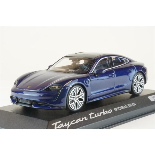 ディーラー別注 1/43 ポルシェ タイカン ターボ カレンダー・エディション ブルーメタリック 完成品ミニカー WAP0200880M003