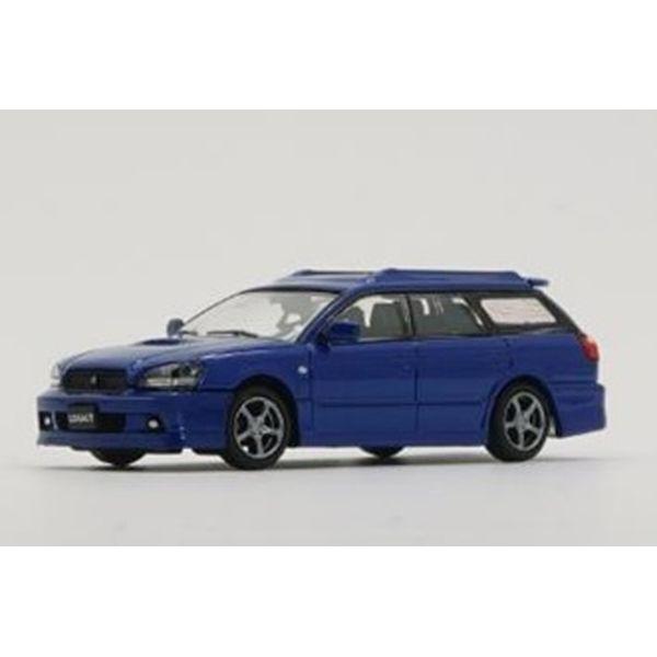 【8月予約】BM CREATIONS 1/64 スバル レガシィ EチューンII 2002 ブルー 左ハンドル仕様 完成品ミニカー 64B0151