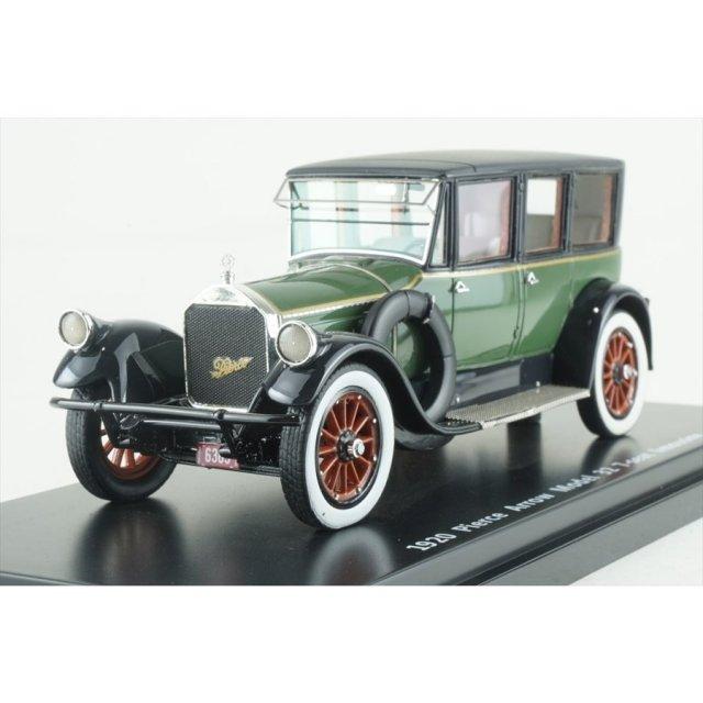 エスバルモデル 1/43 ピアスアロー モデル32 7シートリムジン 1920 グリーン/ブラック 完成品ミニカー EMUS43043A