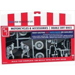 AMT 1/25 ダートバイク2台セット スケールモデル AMTPP14