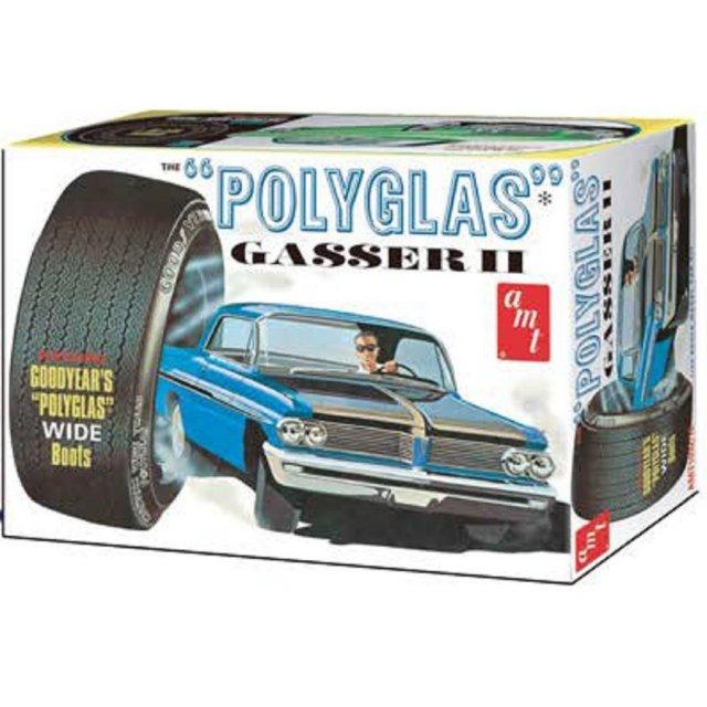 """AMT 1/25 1962 ポンティアック カタリナ """"ポリグラス・ギャッサーII"""" スケールモデル AMT1092"""