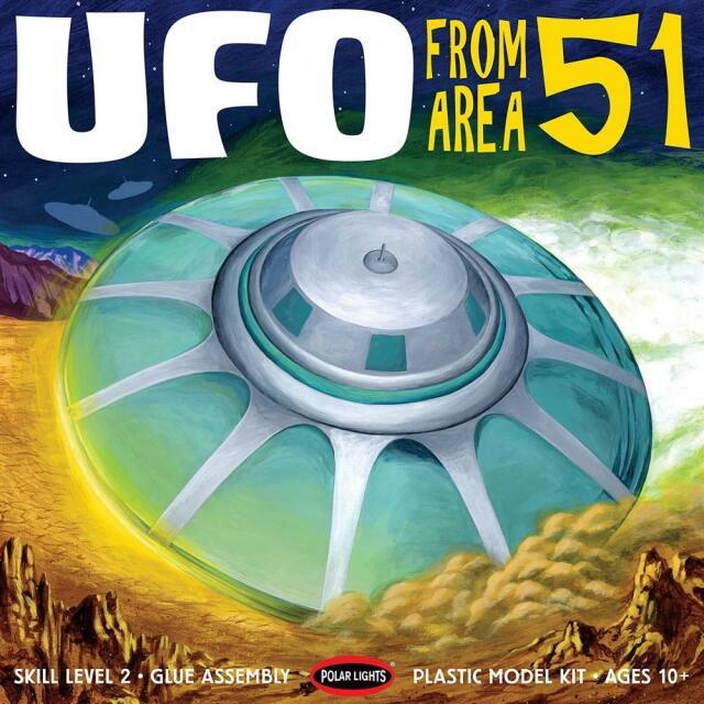 【3月予約】ポーラライツ 1/48 エリア51 UFO キャラクタープラモデル POL982