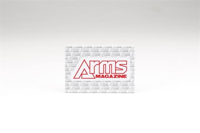 アームズマガジンロゴ缶バッジ カード型横向き【同梱種別A】 ホビージャパン製品 AM2002