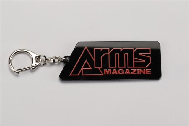 アームズマガジンロゴ アクリルキーホルダー ブラック【同梱種別A】 ホビージャパン製品 AM2004
