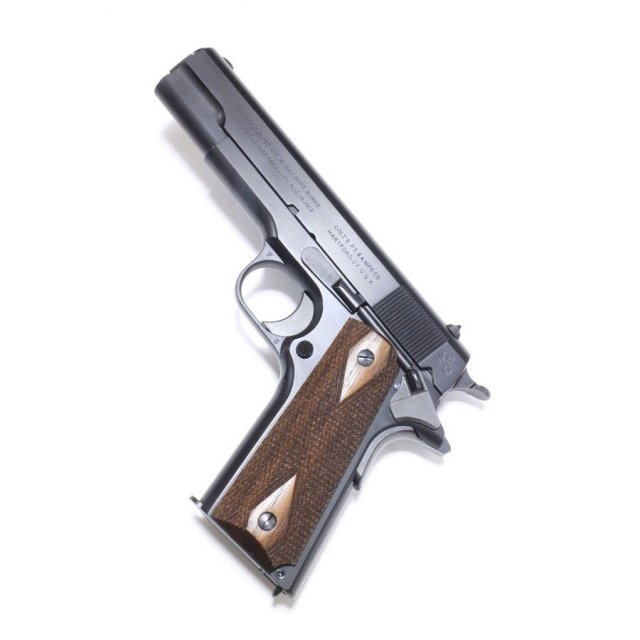 六研/エラン 発火式 コルト M1911 コマーシャル(ケーシー・ライバック モデル)DUOブローバックモデル 「暴走特急」より モデルガン 109005935000