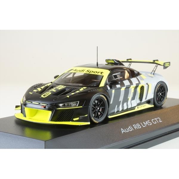 ディーラー別注 1/43 アウディ R8 LMS GT2 ブラック/イエロー 完成品ミニカー 5022000231