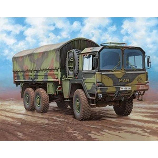 【8月予約】ドイツレベル 1/35 ドイツ MAN 7t Milgl トラック スケールモデル 03291