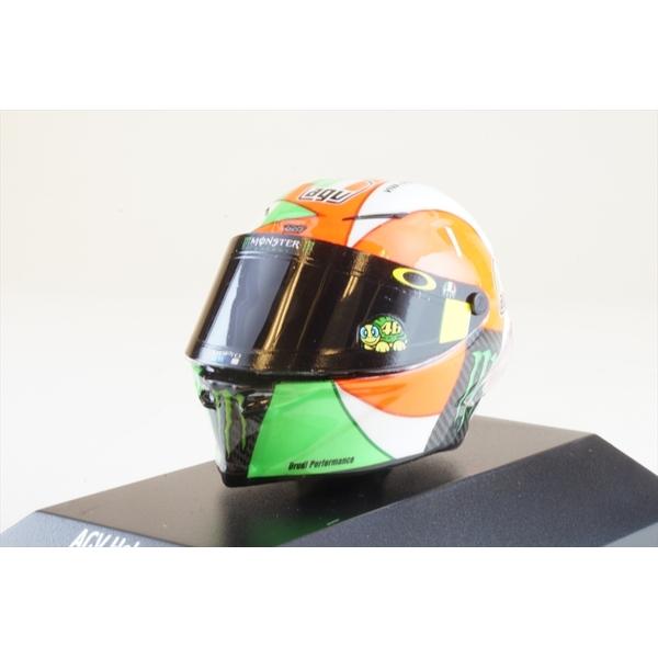 ミニチャンプス 1/8 AGV ヘルメット モビスター ヤマハ 2018 モトGP ムジェロ 3位 V.ロッシ 完成品ミニカー 399180086