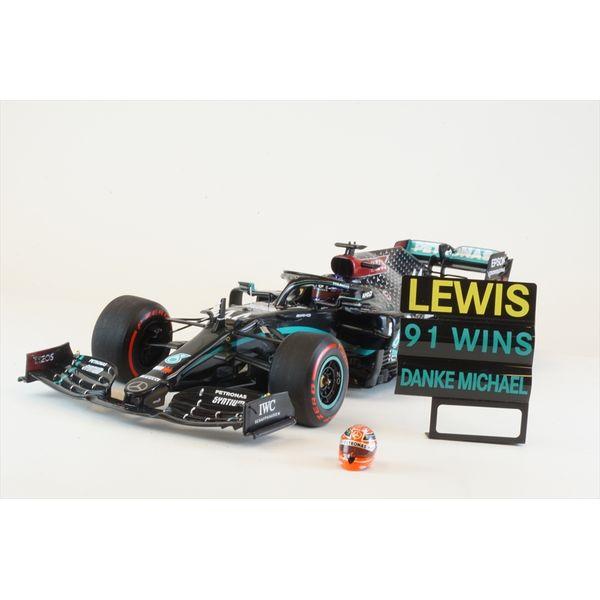 ミニチャンプス 1/18 メルセデス W11 EQ Performance No.44 ペトロナス F1 2020 アイフェルGP 91勝目 L.ハミルトン 完成品ミニカー 110201144