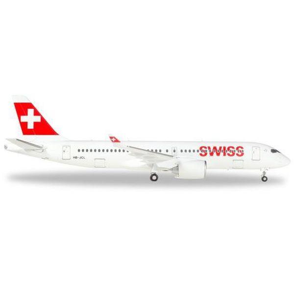 """【7月予約】ヘルパウイングス 1/200 A220-300 スイスインターナショナル航空 HB-JCL """"Winterthur"""" 完成品モデル HE558952-001"""