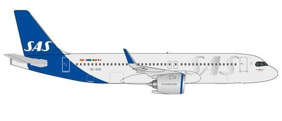 """【3月予約】ヘルパウイングス 1/500 A320neo SAS スカンジナビア航空 SE-ROK """"Kraka Viking"""" 完成品モデル HE534963"""