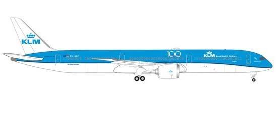 """【3月予約】ヘルパウイングス 1/500 787-10 KLM オランダ航空 """"Sneeuwklokje"""" PH-BKF 完成品モデル HE535083"""