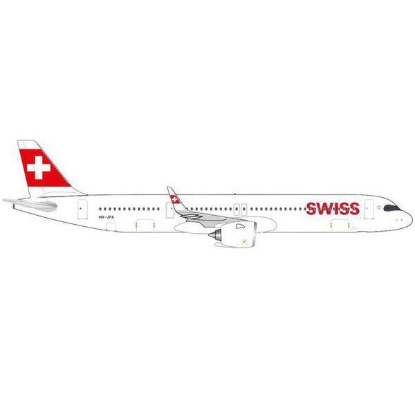 """【7月予約】ヘルパウイングス 1/500 A321neo スイスインターナショナル航空 HB-JPA """"Stoos"""" 完成品モデル HE535366"""