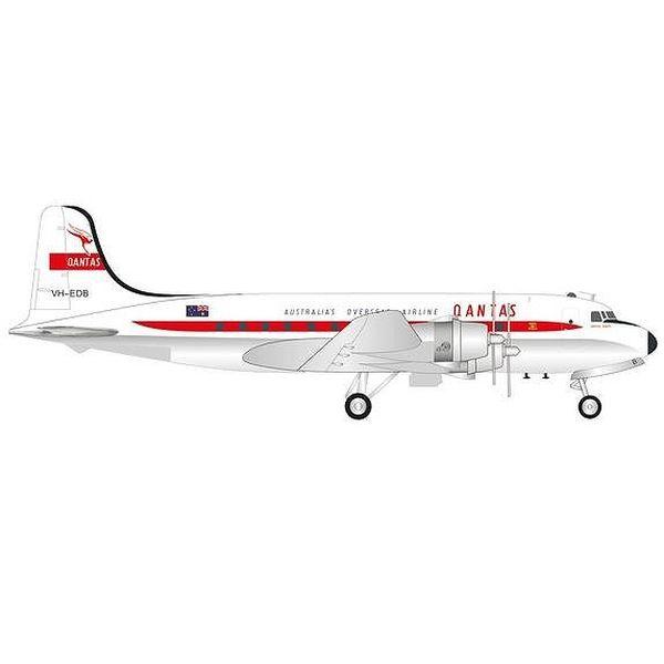 """【9月予約】ヘルパウイングス 1/200 DC-4 カンタス航空 VH-EDB """"Norfolk Trader"""" 完成品モデル HE571555"""