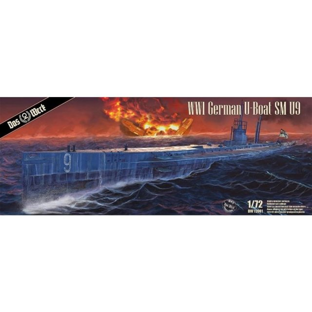 ダス・ヴェルク 1/72 WW.I ドイツ Uボート SM U9 スケールモデル USCDW72001