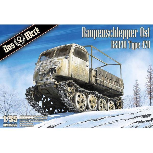 【11月予約】ダス・ヴェルク 1/35 ラウペンシュレッパー Ost (RSO/01 タイプ470) スケールモデル USCDW35026