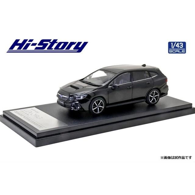 ハイストーリー 1/43 スバル レヴォーグ GT-H 2020 クリスタルブラックシリカ 完成品ミニカー HS330BK