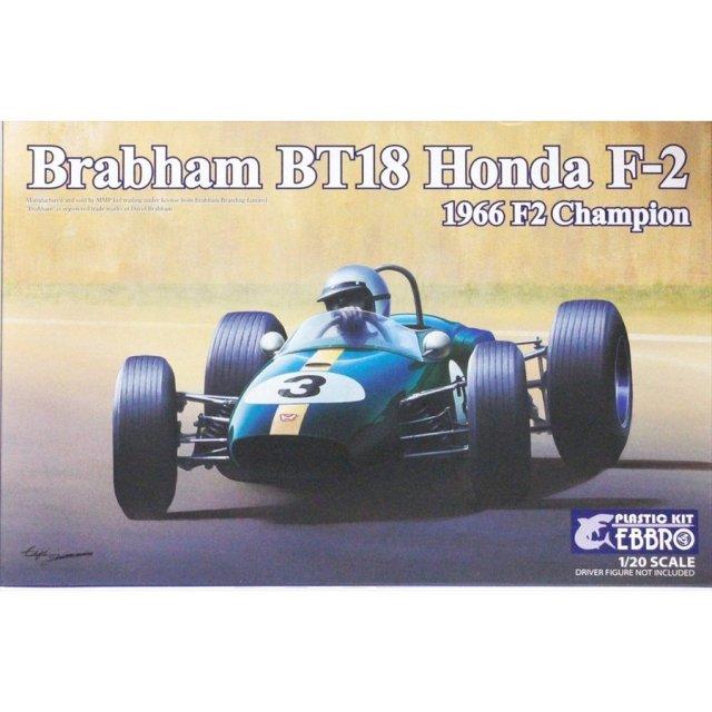 エブロ 1/20 ブラバム ホンダ BT18 F2 1966 チャンピオン スケールプラモデル 20022