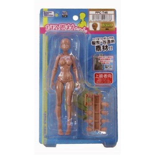 ホビーベース 1/12 素材ちゃん 褐色 模型用グッズ PPC-T46