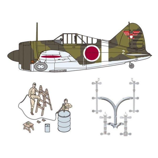 ファインモールド 1/48 B-339 バッファロー 日本陸軍 w/整備情景セット1 スケールモデル 48994