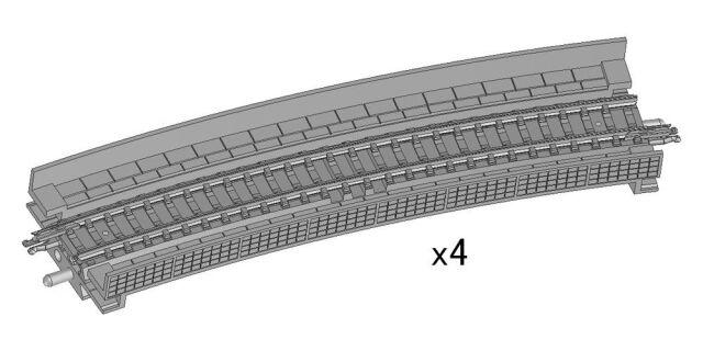 【11月予約】トミックス Nゲージ 高架橋付PCレールHC541-15-PC(F)(4本セット) 鉄道模型パーツ 1876