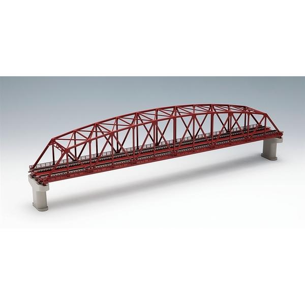 トミックス Nゲージ 複線曲弦大トラス鉄橋(F)(赤)(複線PC橋脚・2本付) 鉄道模型パーツ 3221