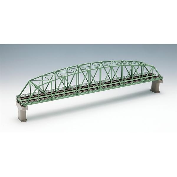 トミックス Nゲージ 複線曲弦大トラス鉄橋(F)(緑)(複線PC橋脚・2本付) 鉄道模型パーツ 3222