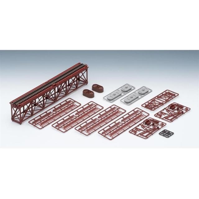 【6月予約】トミックス Nゲージ 上路式単線トラス鉄橋S280(F)(赤)(れんが橋脚・2本付) 鉄道模型パーツ 3266