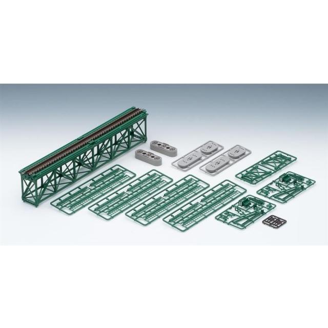 【6月予約】トミックス Nゲージ 上路式単線トラス鉄橋S280(F)(深緑)(PC橋脚・2本付) 鉄道模型パーツ 3267