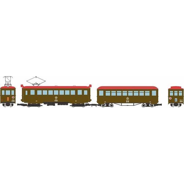 【10月予約】トミーテック HOゲージ 鉄道コレクション ナローゲージ80 猫屋線 直通急行「やまねこ」 デハ101+ホハフ25 2両セット 鉄道模型 315490