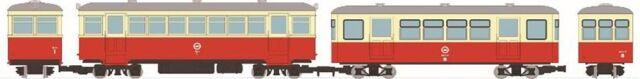 【2月予約】トミーテック Nゲージ 鉄道コレクション ナローゲージ80 想い出の尾小屋鉄道 キハ1タイプ+ホハフ8タイプ 2両セット 鉄道模型 315513