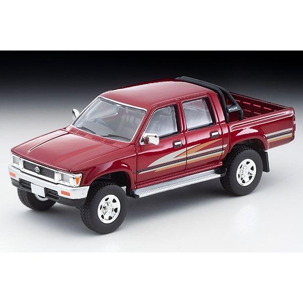【2月予約】トミカリミテッド ヴィンテージネオ 1/64 トヨタ ハイラックス 4WD ピックアップ ダブルキャブSSR 1991 レッド 完成品ミニカー LV-N256A