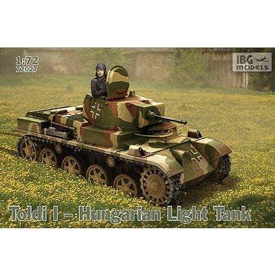 IBG 1/72 ハンガリー・38MトルディI 軽戦車・20mm砲型初期 スケールモデル PB72027