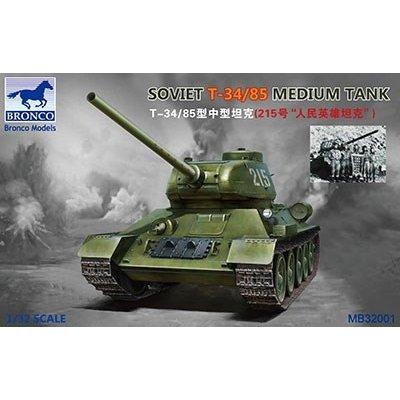 ブロンコモデル 1/32 露・T-34/85中戦車・朝鮮戦争人民英雄215号車(MB32001) スケールモデル CBM3201
