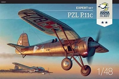 アロマホビー 1/48 ポ・PZL P.11c単葉戦闘機エキスパート版エッチング&マスキング スケールモデル AP48001