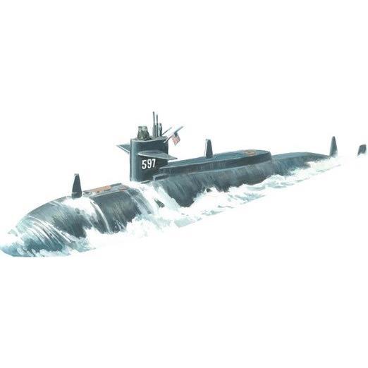 【4月予約】AVIS 1/350 米・SSN-597タリビー実験攻撃原潜(MicroMirブランド) スケールモデル AVM9341