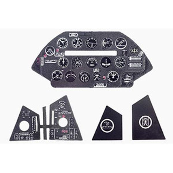 【5月予約】ヤフーモデル 1/48 F4U-5コルセア・着色計器板・ハセガワ 模型用グッズ YMA4841