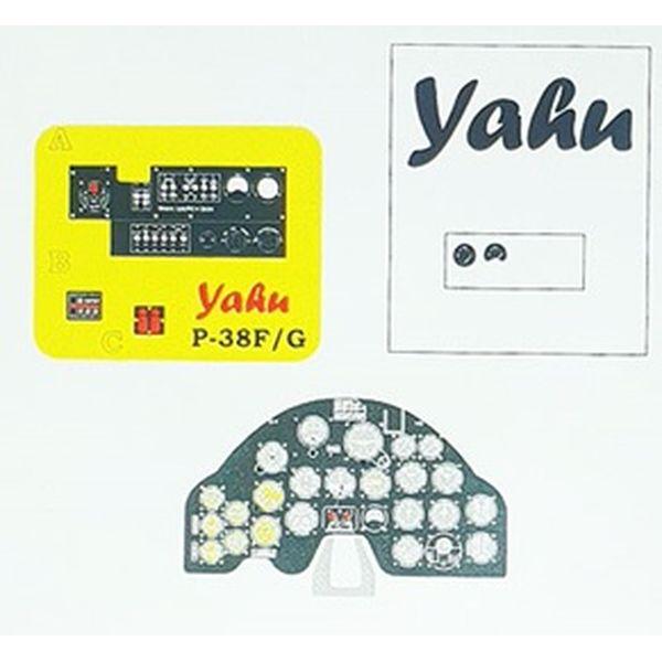 【5月予約】ヤフーモデル 1/48 P-38Hライトニング・着色計器板・タミヤ 模型用グッズ YMA4891